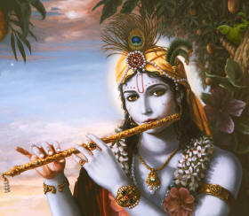 Sri Krishna and his holy flute